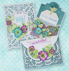 Delicate Blossoms and Shaped Cards