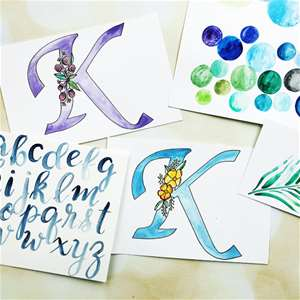 The Beauty of Watercolor Lettering
