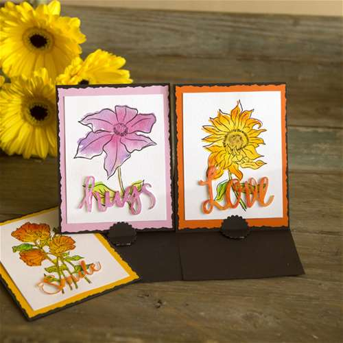 Watercolor Flower Stamping